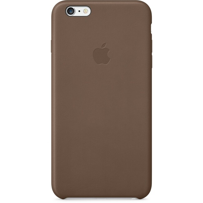 Кожаный чехол Apple Leather Case Olive Brown (MGQR2) для iPhone 6 Plus