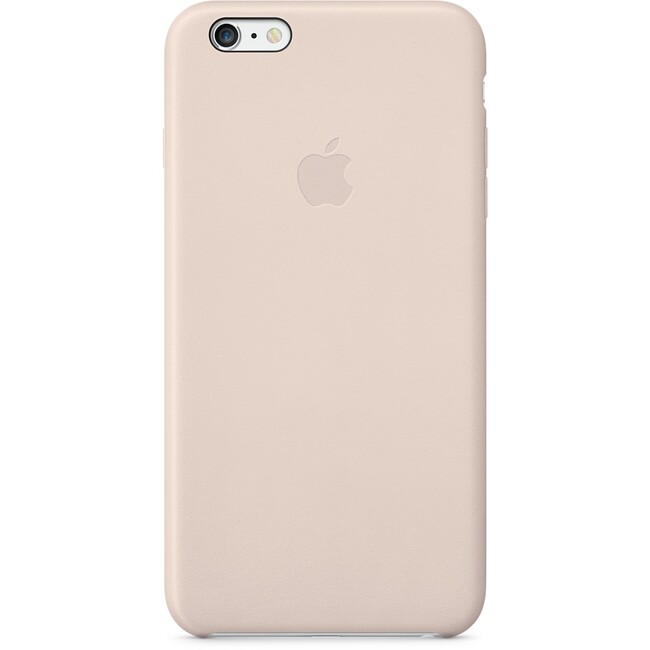 Кожаный чехол Apple Leather Case Soft Pink (MGQW2) для iPhone 6 Plus
