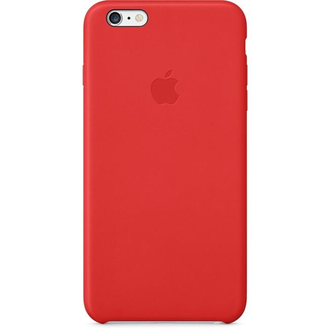 Кожаный чехол Apple Leather Case (PRODUCT) Red (MGQY2) для iPhone 6 Plus
