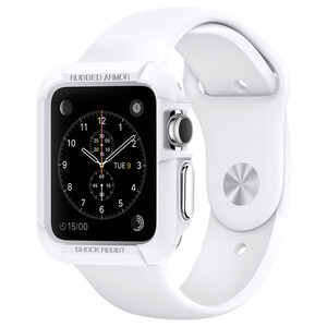 Купить Чехол Spigen Rugged Armor White для Apple Watch Series 1/2/3 38mm
