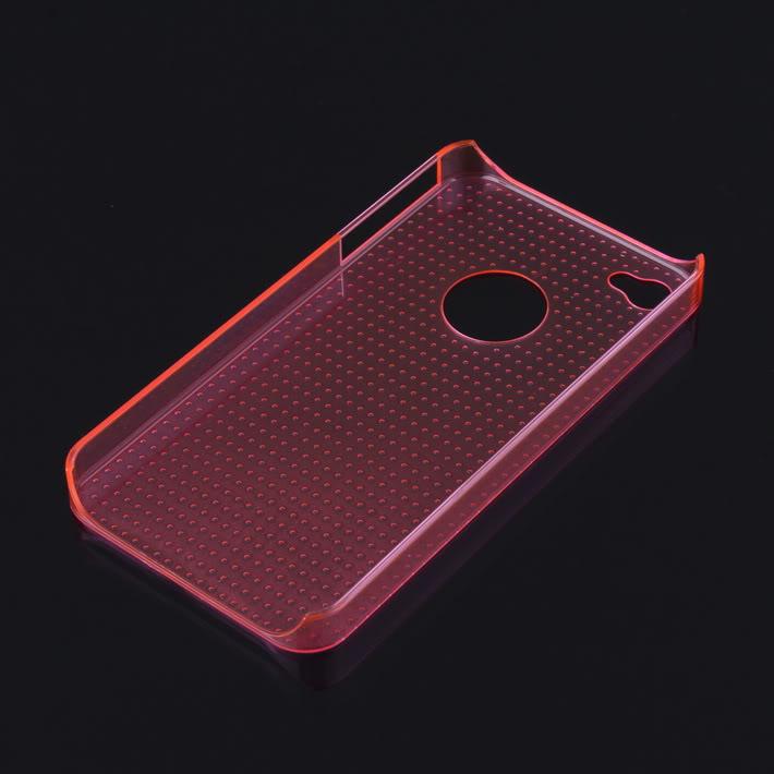 Купить Розовый прозрачный пластиковый чехол iLoungeMax Dotted для iPhone 4 | 4S