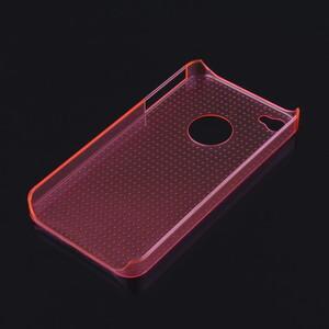 Купить Розовый прозрачный пластиковый чехол Dotted для iPhone 4/4S