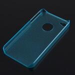 Голубой прозрачный пластиковый чехол oneLounge Dotted для iPhone 4/4S