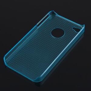Купить Голубой прозрачный пластиковый чехол Dotted для iPhone 4/4S