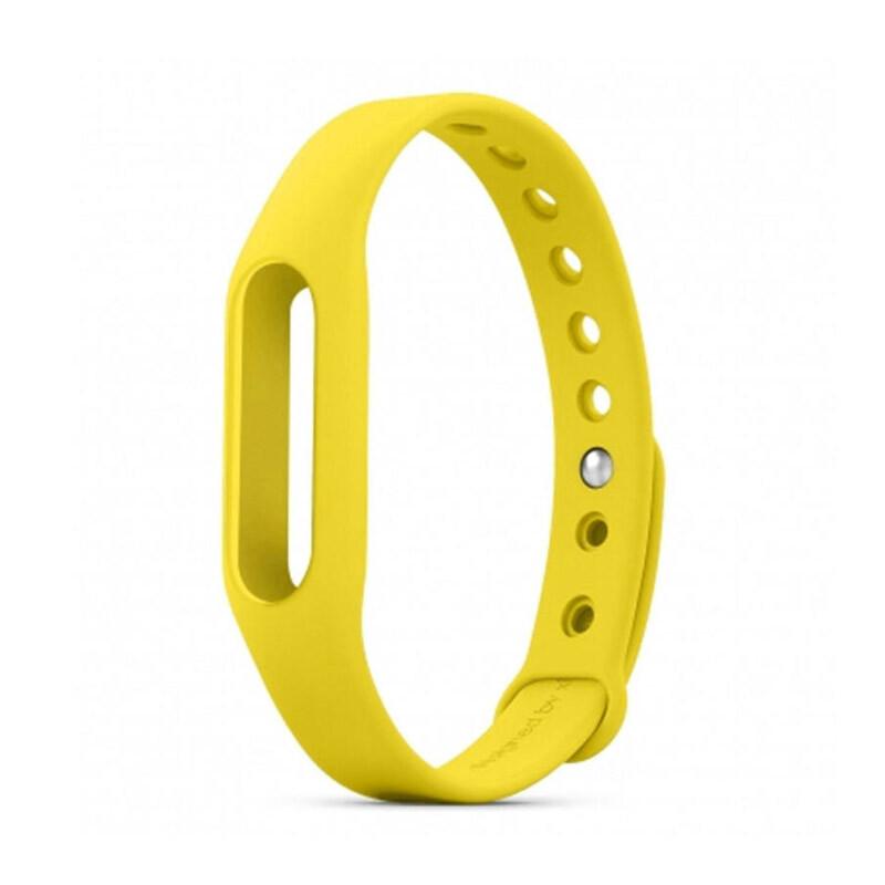 Желтый ремешок для фитнес-браслета Xiaomi Mi Band Pulse 1S