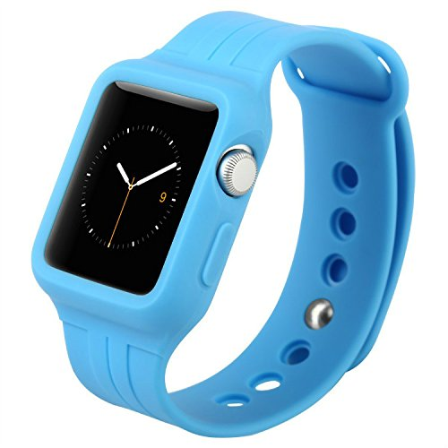 Купить Ремешок-чехол Baseus Fresh-Color Plus Blue для Apple Watch 44mm | 42mm