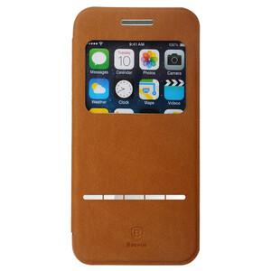 Купить Кожаный флип-чехол Baseus Terse Series Brown для iPhone 6/6s Plus
