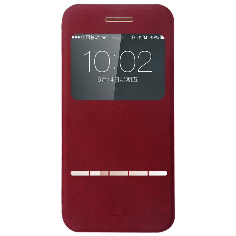 Кожаный флип-чехол Baseus Terse Series Red для iPhone 6 Plus/6s Plus