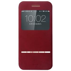 Купить Кожаный флип-чехол Baseus Terse Series Red для iPhone 6/6s Plus