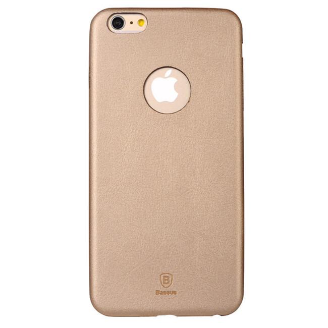 Ультратонкий кожаный чехол Baseus Thin Case 1mm Gold для iPhone 6/6s Plus