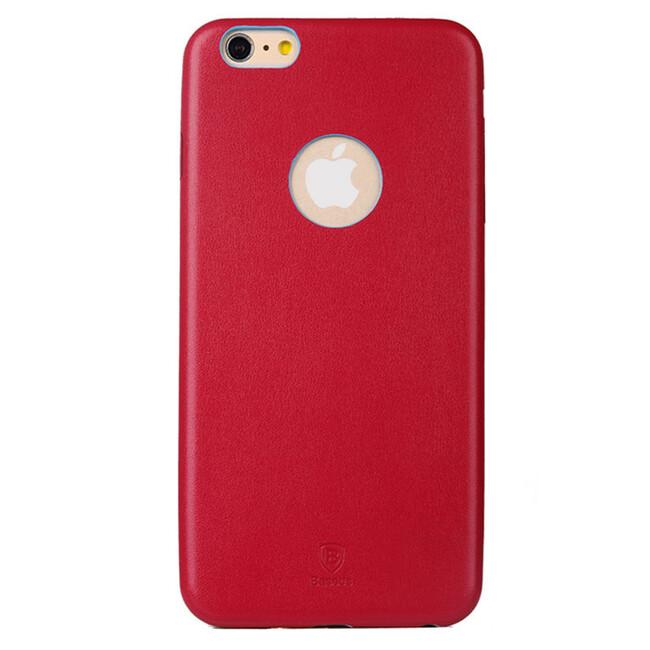 Ультратонкий кожаный чехол Baseus Thin Case 1mm Red для iPhone 6/6s Plus