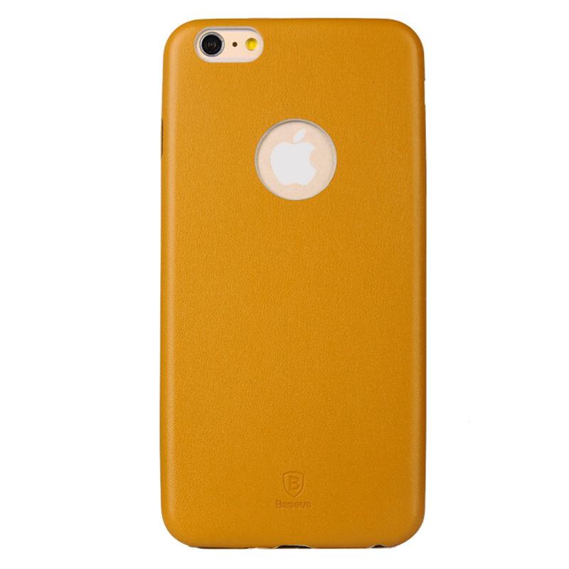 Ультратонкий кожаный чехол Baseus Thin Case 1mm Yellow для iPhone 6/6s Plus
