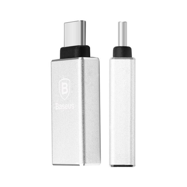 "Переходник Baseus USB-C to USB 3.0 Silver для Apple MacBook 12"""