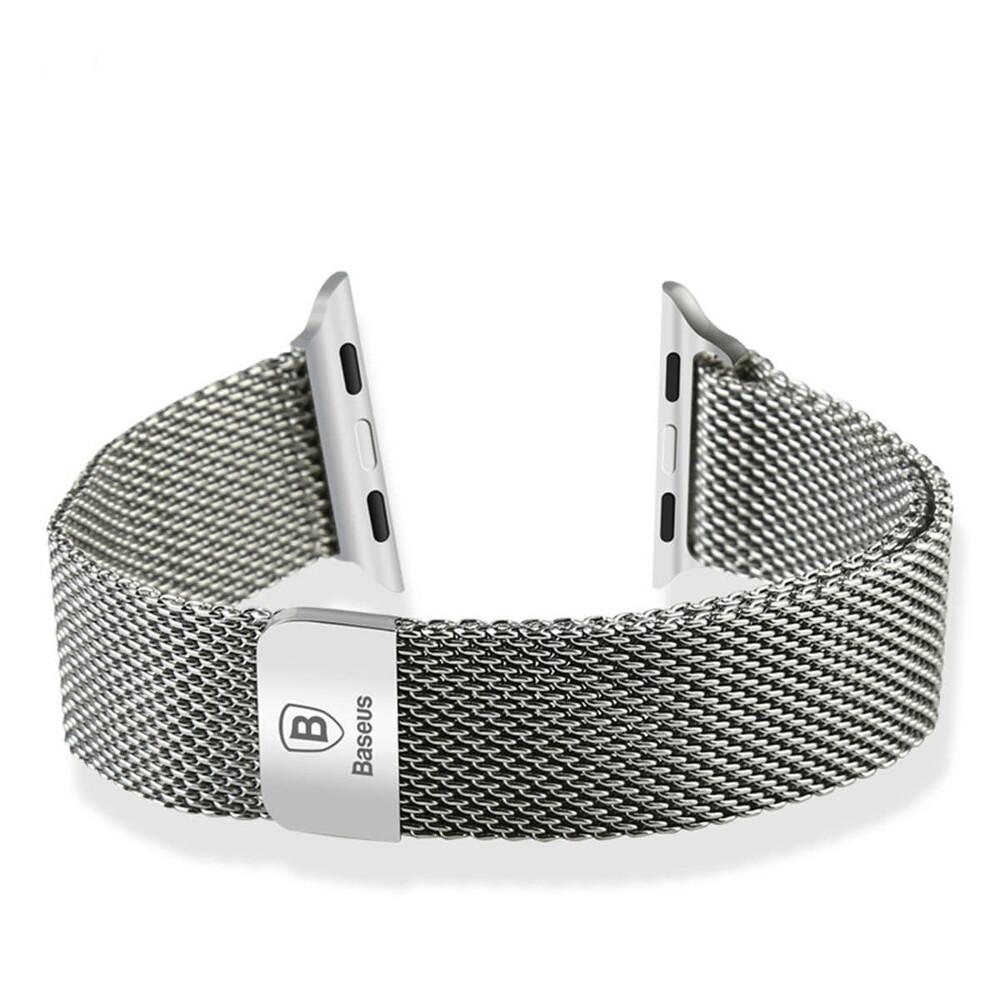 Ремешок Baseus Milanese Silver для Apple Watch 38mm Series 1/2