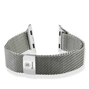 Купить Ремешок Baseus Milanese Silver для Apple Watch 38mm