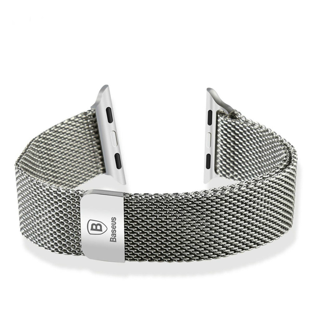 Ремешок Baseus Milanese Silver для Apple Watch 42mm Series 1/2