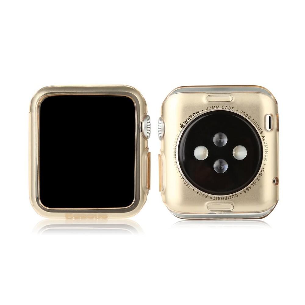 Чехол Baseus Simple TPU Transparent Gold для Apple Watch Series 1/2/3 42mm