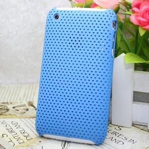 Купить Пластиковый синий чехол Grid для iPhone 3G/3GS