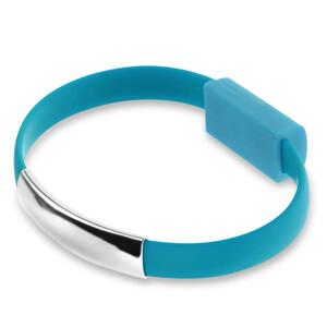 Купить Браслет-кабель EECX V8 Lightning Blue для iPhone/iPad/iPod
