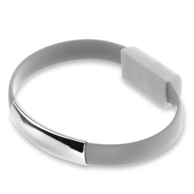 Браслет-кабель EECX V8 Lightning Gray для iPhone/iPad/iPod