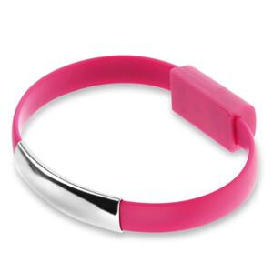Купить Браслет-кабель EECX V8 Lightning Pink для iPhone/iPad/iPod