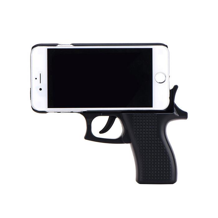 3D чехол-пистолет Gun Black для iPhone 6/6s