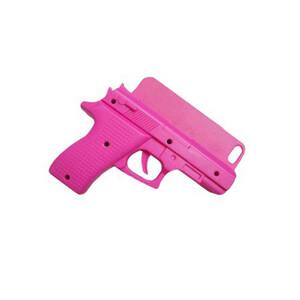 Купить 3D чехол-пистолет Gun Pink для iPhone 5/5S/SE