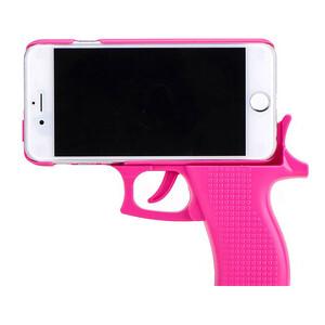 Купить 3D чехол-пистолет Gun Pink для iPhone 6/6s