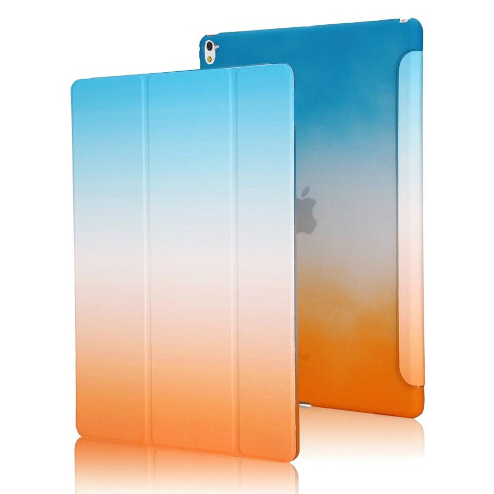 "Пластиковый чехол Rainbow Blue/Orange для iPad Pro 9.7"""