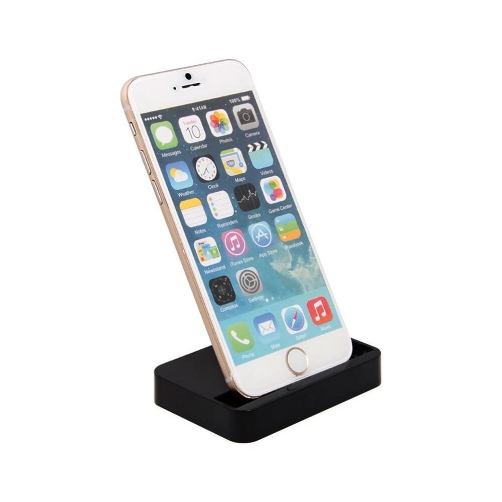 Купить Черная док-станция oneLounge для Apple iPhone 5 | 5S | SE | 5C | 6 | 6s | 6 Plus | 7 | 7 Plus | 8 | 8 Plus
