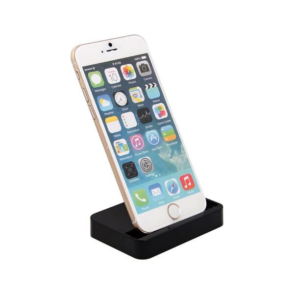 Черная док-станция iLoungeMax для Apple iPhone 5 | 5S | SE | 5C | 6 | 6s | 6 Plus | 7 | 7 Plus | 8 | 8 Plus