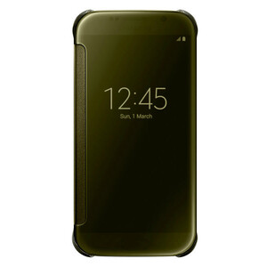Чехол Samsung Clear View Cover ОЕМ-копия Gold для Samsung Galaxy S6