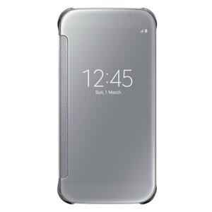 Чехол Samsung Clear View Cover ОЕМ-копия Silver для Samsung Galaxy S6