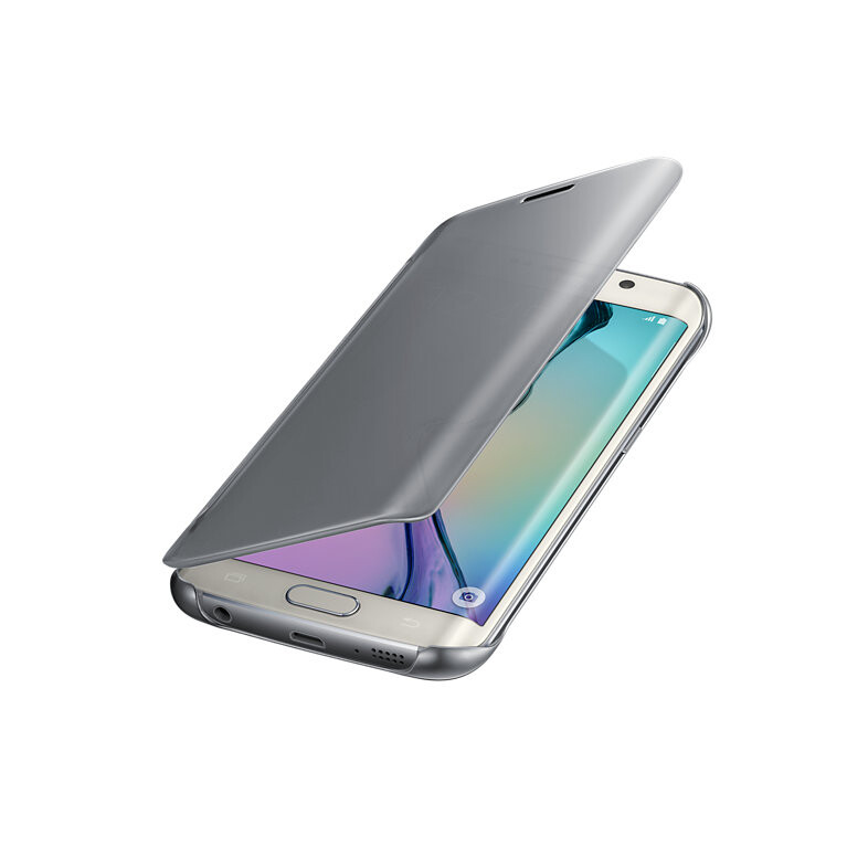 Чехол Samsung Clear View Cover Silver для Samsung Galaxy S6 Edge