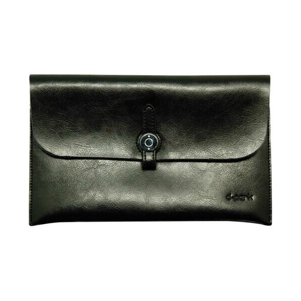 Кожаный чехол d-park Big Button Black для iPad mini 4/3/2/1