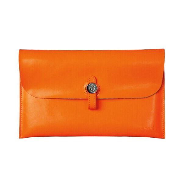 Кожаный чехол d-park Big Button Orange для iPad mini 4/3/2/1