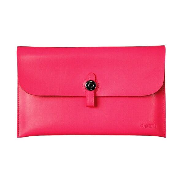 Кожаный чехол d-park Big Button Pink для iPad mini 5 | 4 | 3 | 2 | 1