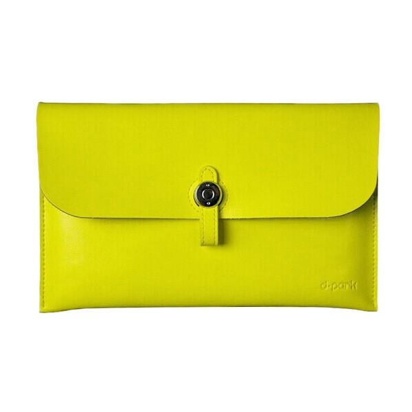 Кожаный чехол d-park Big Button Yellow для iPad mini 4/3/2/1
