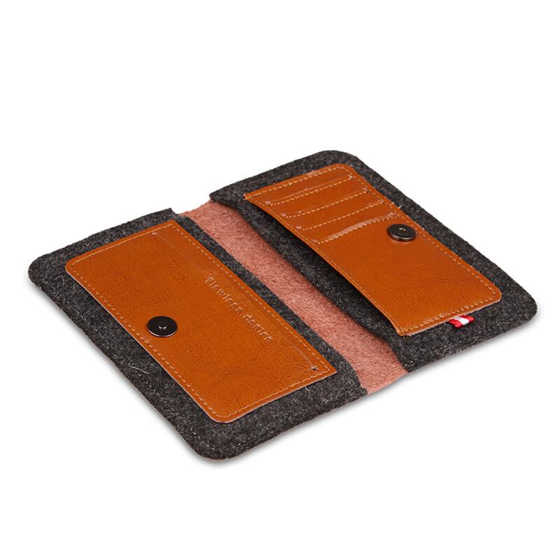 Кожаный чехол-кошелек d-park Handmade Wallet Coffee для iPhone 6/6s