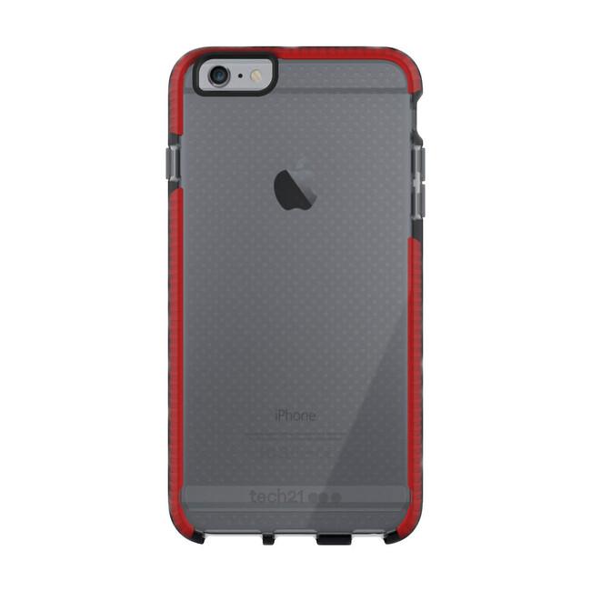 Противоударный чехол Tech21 Evo Mesh Smokey/Red для iPhone 6/6s Plus