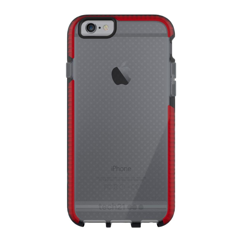 Противоударный чехол Tech21 Evo Mesh Smokey/Red для iPhone 6/6s