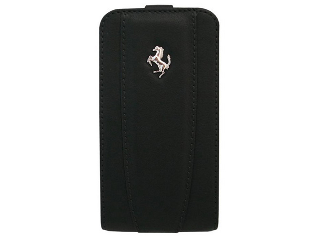 Кожаный чехол Ferrari Modena Black для iPhone 4/4S