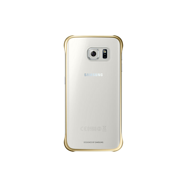 Чехол Samsung Clear Cover Gold для Samsung Galaxy S6 Edge