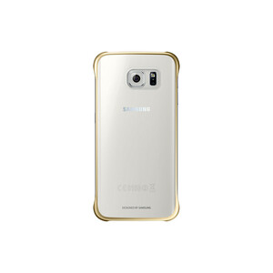 Купить Чехол Samsung Clear Cover Gold для Samsung Galaxy S6 Edge