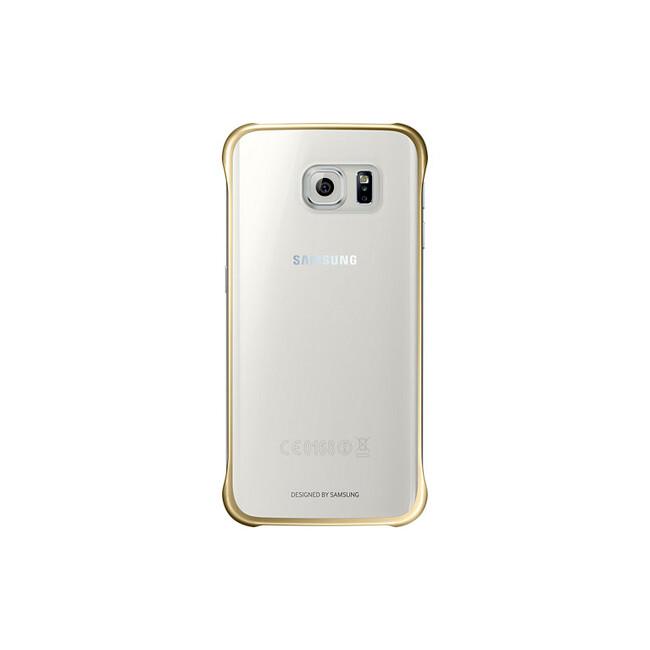 Чехол Samsung Clear Cover Gold для Samsung Galaxy S6 Edge