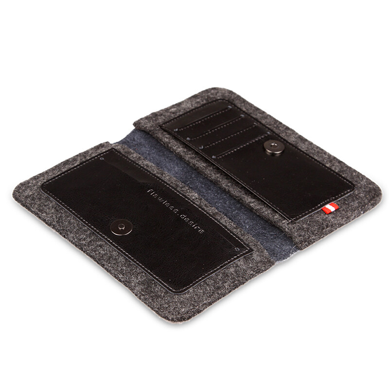 Кожаный чехол-кошелек d-park Handmade Wallet Black для iPhone 6/6s/7 Plus & Samsung S7/S6 Edge/S8 Plus