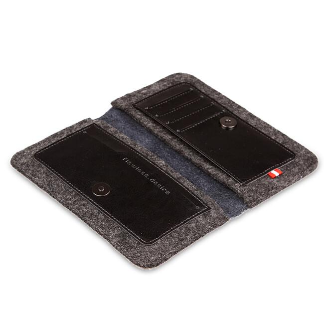 Кожаный чехол-кошелек d-park Handmade Wallet Black для iPhone 6/6s/7 Plus