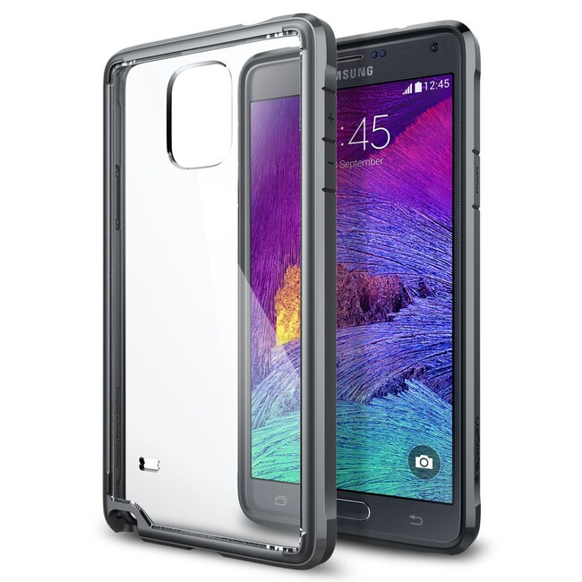 Чехол Spigen Ultra Hybrid Gunmetal для Samsung Galaxy Note 4