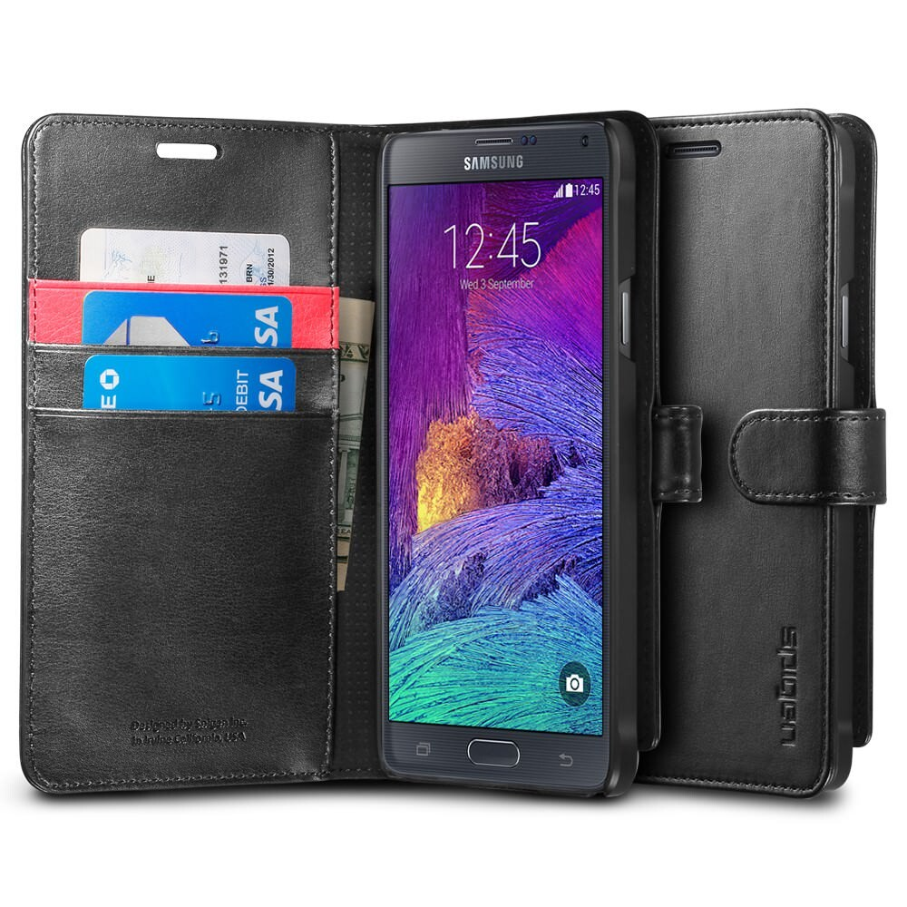 Чехол Spigen Wallet S Black для Samsung Galaxy Note 4