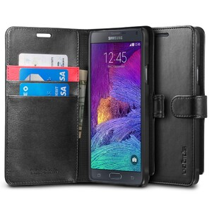 Купить Чехол Spigen Wallet S Black для Samsung Galaxy Note 4